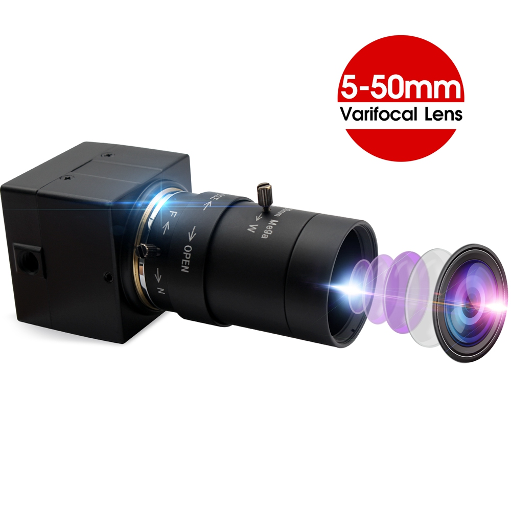 ELP 5Megapixel 2592X1944 USB Security Protection camera 5-50mm manual iris Varifocus CS mount lens OV5640 CCTV CMOS HD Webcam