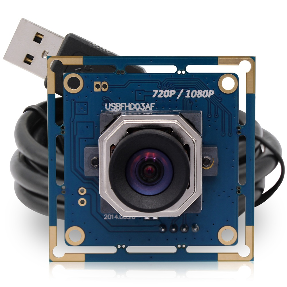 ELP Usb Camera Module 1080p Hd Industrial Usb2.0 Camera with Autofocus Lens