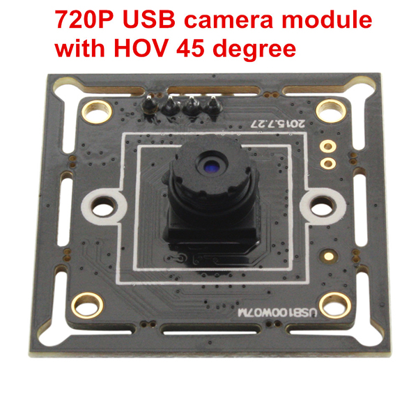 ELP 720P 32*32mm Mini Webcam High speed USB2.0 MJPEG 30fps 1280X720 USB Camera module With M7 45 degree lens