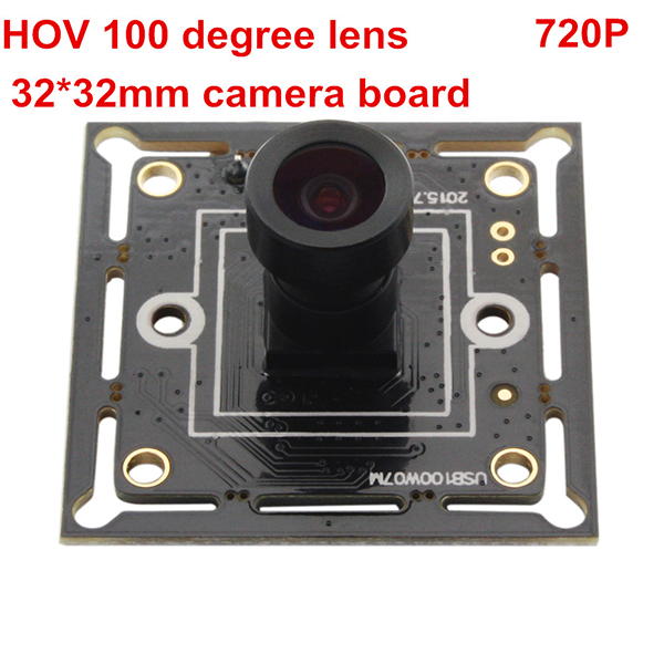ELP Super Mini 26*26mm 1MP Webcam HD CMOS OV9712 1280X720 PCB USB Camera With M7 100degree lens