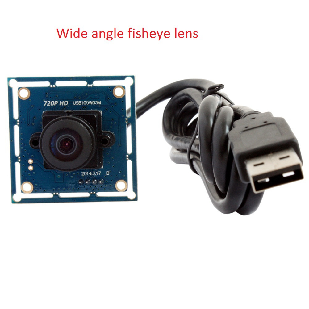 ELP 720p HD Wide Angle CMOS OV9712 camera usb2.0 170 degree fisheye security Camera Usb Webcam Camera Module for Robotic Systems