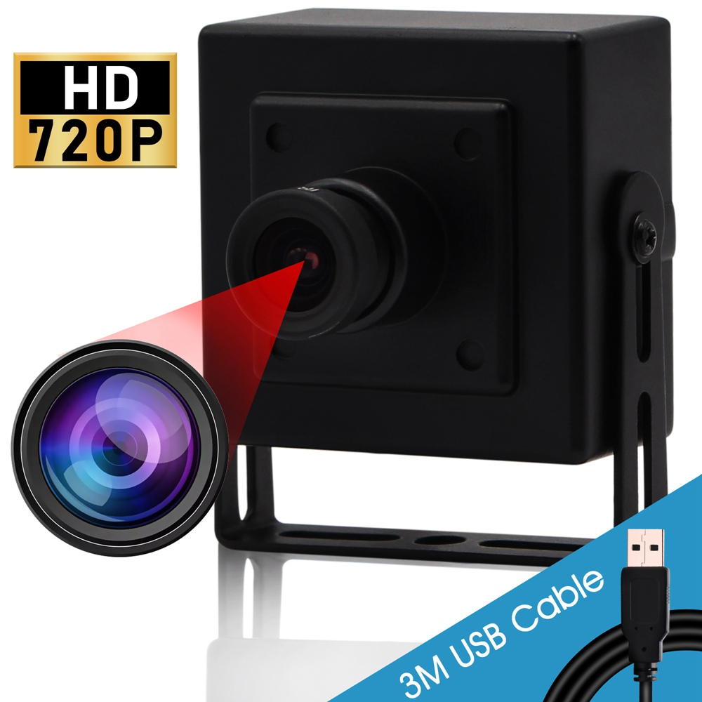 ELP 720P HD Webcam CMOS NT99141 Color Sensor MJPEG/YUY2 UVC OTG USB2.0 External Digital Camera Mini PCB Module With Microphone (3.6mm lens))