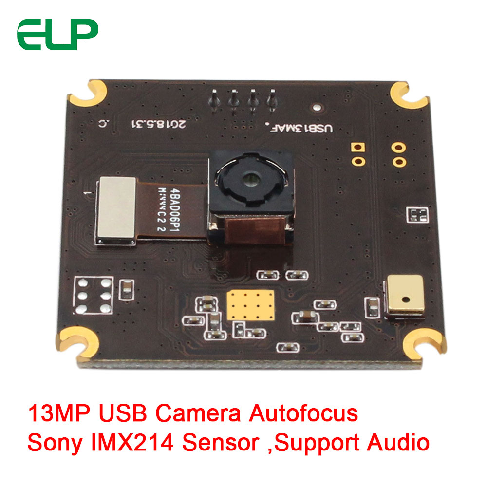 ELP 13MP High Resolution Autofocus USB Camera,support Microphone,with Sony IMX214 Sensor