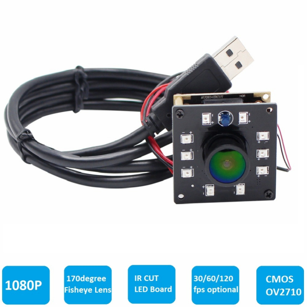 ELP Wide Angle Fisheye lens Night Vision IR CUT USB Webcam Camera Module