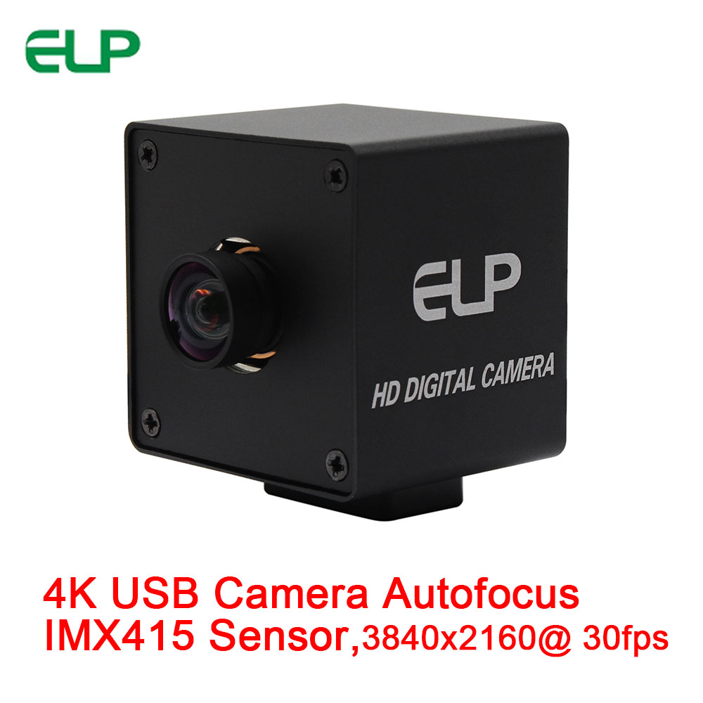 ELP 4K Autofocus Webcam MJPEG 30fps 3840x2160 CMOS Sony IMX415 High Definition USB Camera