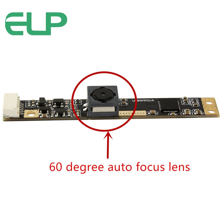 ELP Autofocus CMOS OV5640 Mini 5.0 megapixel usb camera with 60degree lens ,Size 60*8mm