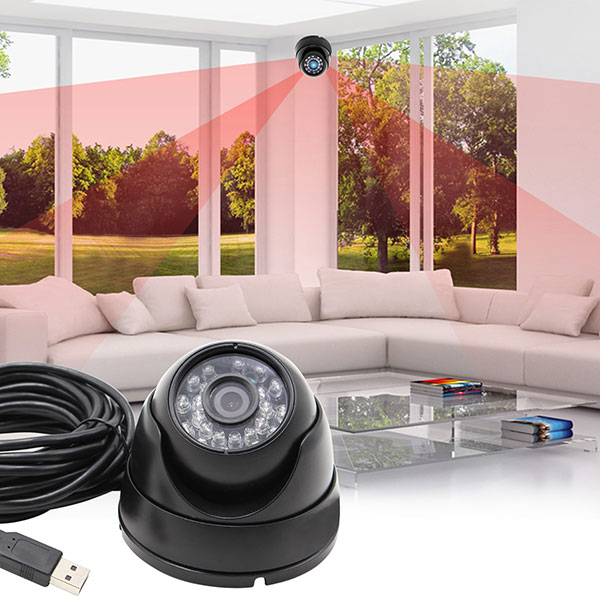 1megapixel Day Night Vision Indoor&outdoor Cctv Usb Dome Housing Camera Vandal-proof