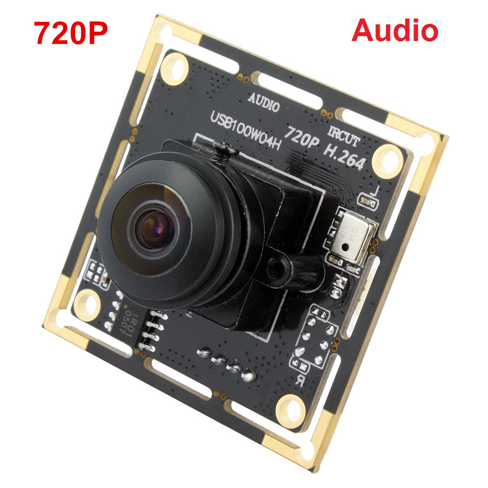 ELP 1.0 megapixel USB camera Support microphone ov9712 CMOS H.264 Camera Module Fisheye Lens