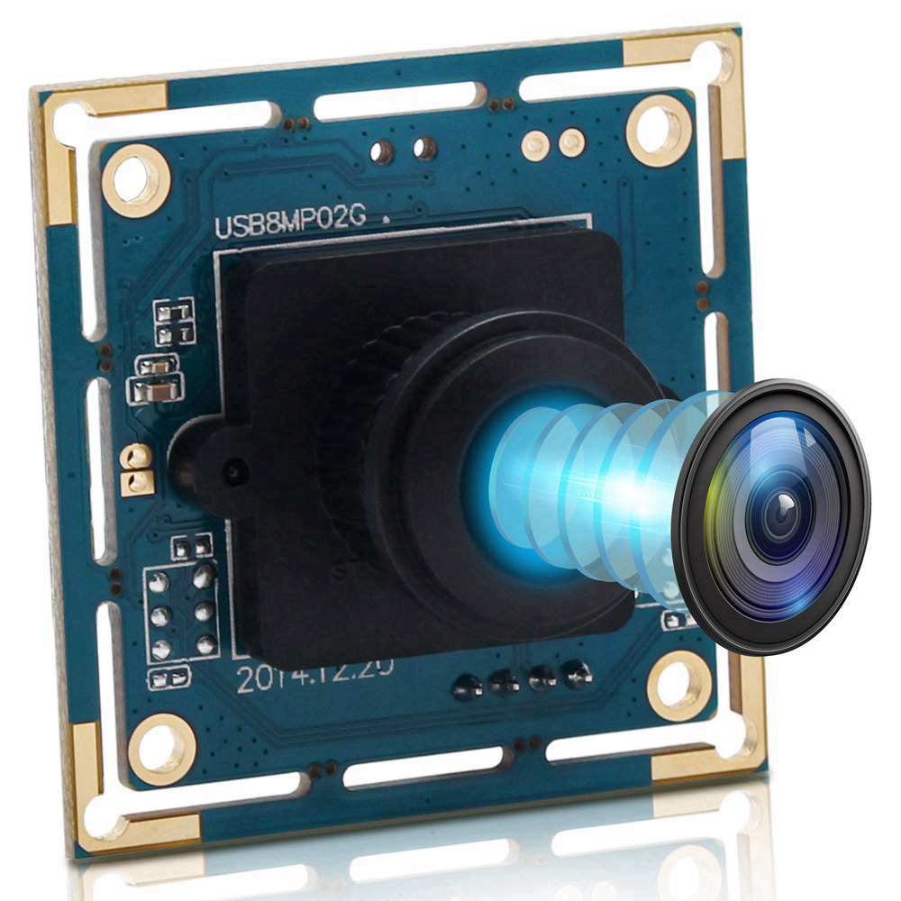 ELP USB Camera 8Megapixel SONY IMX179 Sensor Mini Wide Angle USB Board Cam 180degree Fisheye lens Industrial Camera Module 8MP