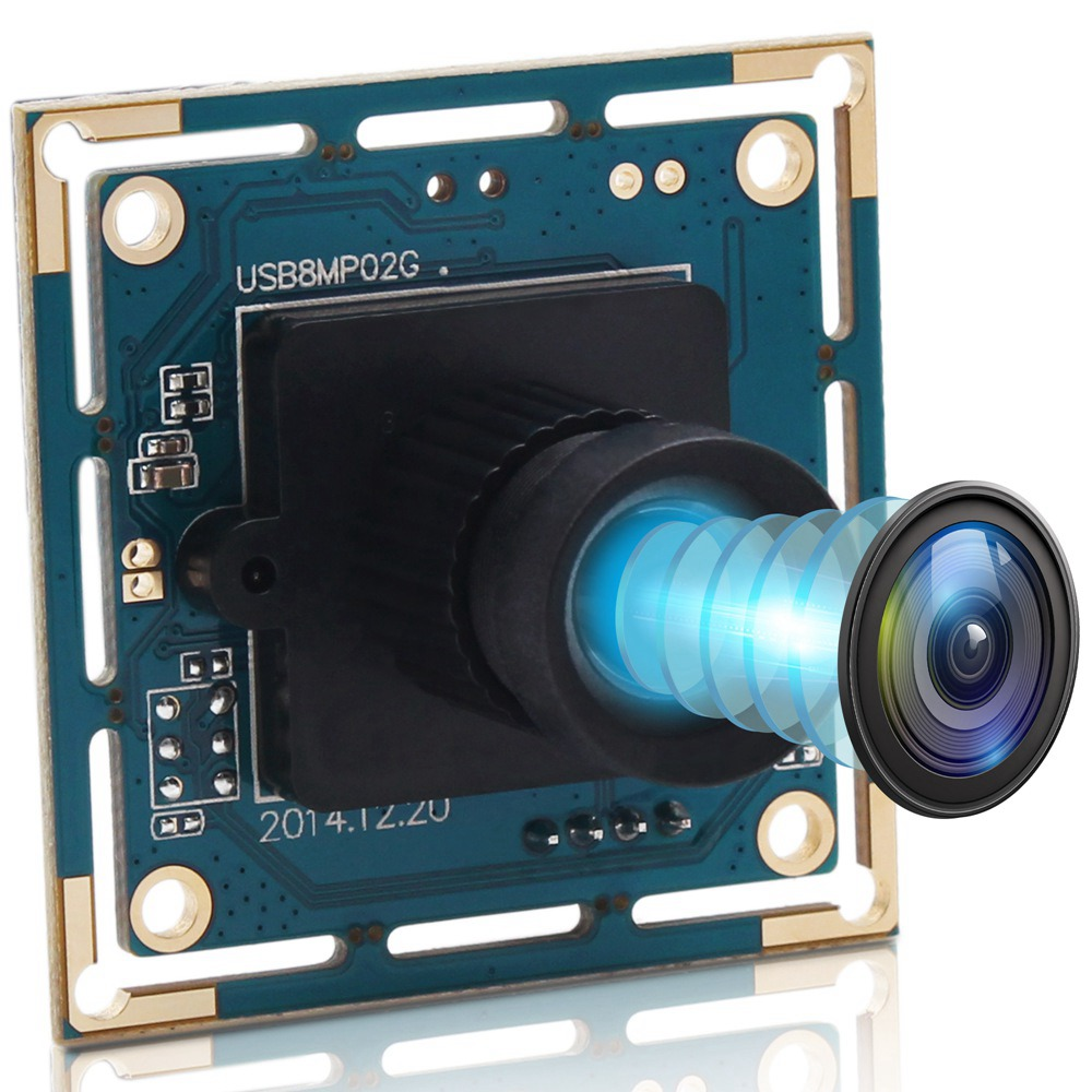 ELP 8MP High-Definition USB Camera Module USB2.0 SONY IMX179 Color CMOS Sensor 75Degree Lens