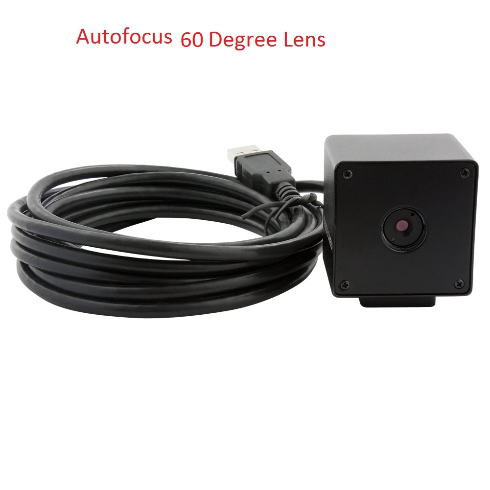 ELP 60degree Autofocus 5megapixel Mini Black Box USB Camera, Driverless UVC CMOS OV5640 HD PC Webcam Support Windows/Linux/Mac/Android