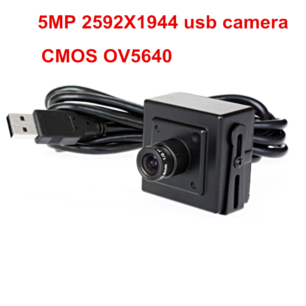 ELP mini box USB camera 5megapixel CMOS OV5640 3.6mm Lens Webcam Video Camera for Security or Industrial Machine Vision System
