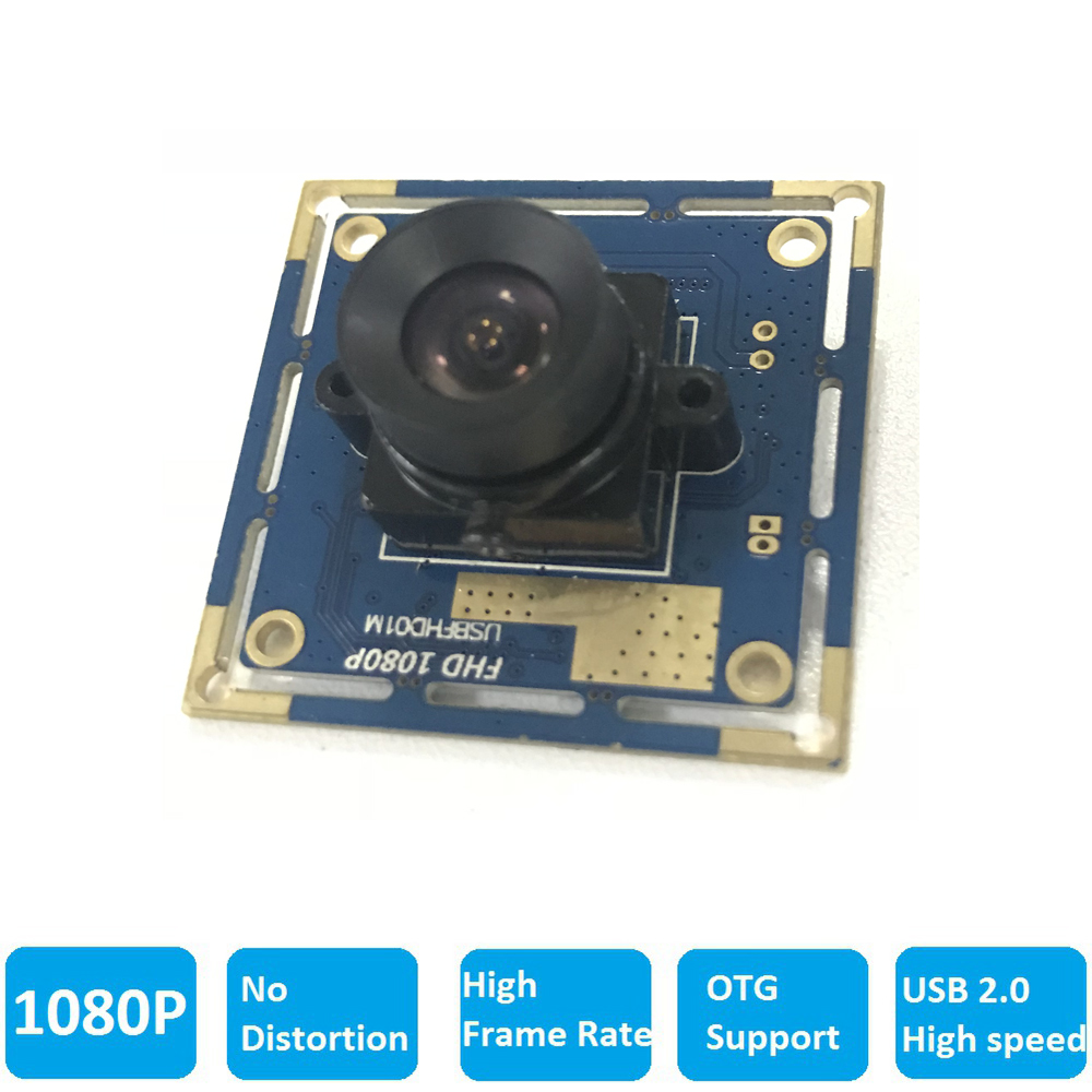 ELP 2Megapixels 1080P No distortion Lens Driverless CMOS OV2710 USB2.0 Camera For Scanning, Vending Machine
