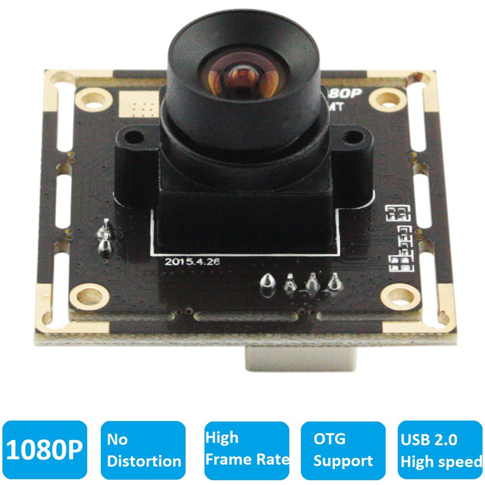 ELP Free Driver 1080P CMOS Color 2MP Industrial Webcam Module None Distortion Lens USB Full HD Camera For Kiosk,POS System