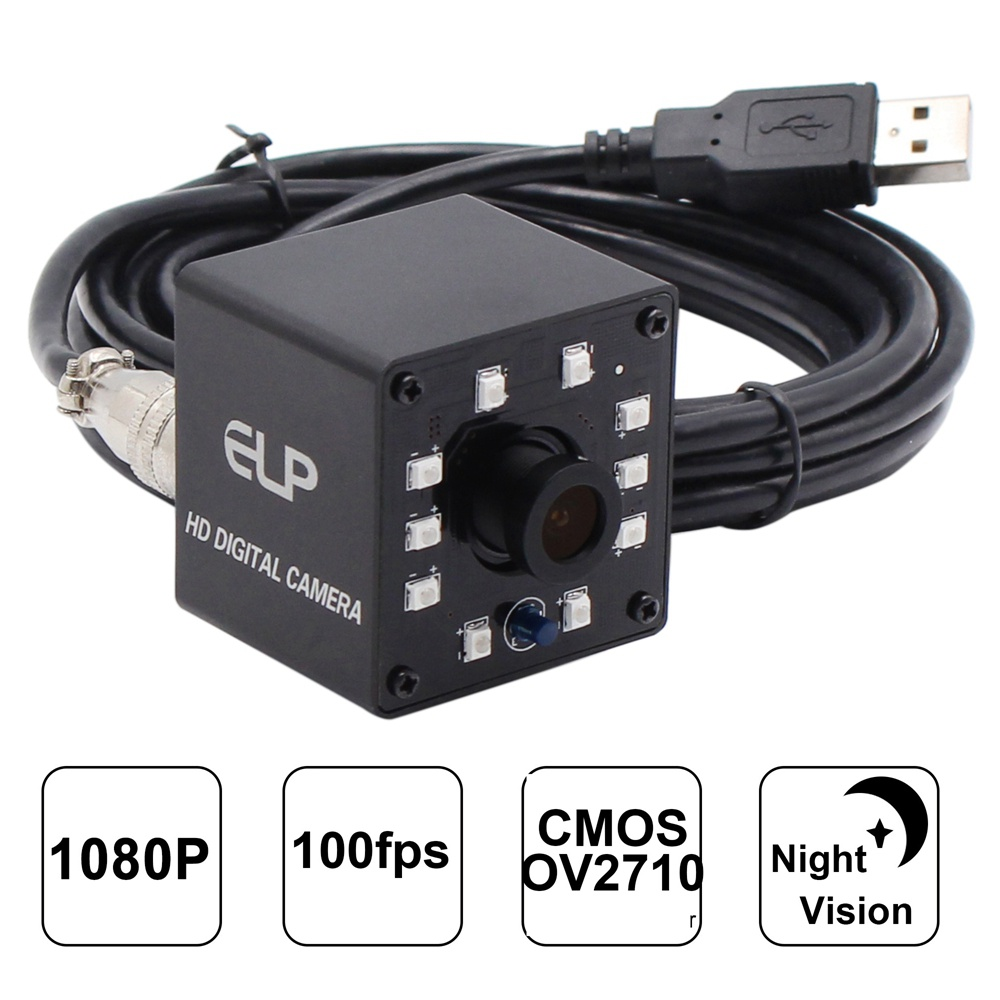 ELP Camera Night Vision 2Mega Pixels 1920x1080P 30fps ov2710 CMOS HD USB webcam LED For video door phone