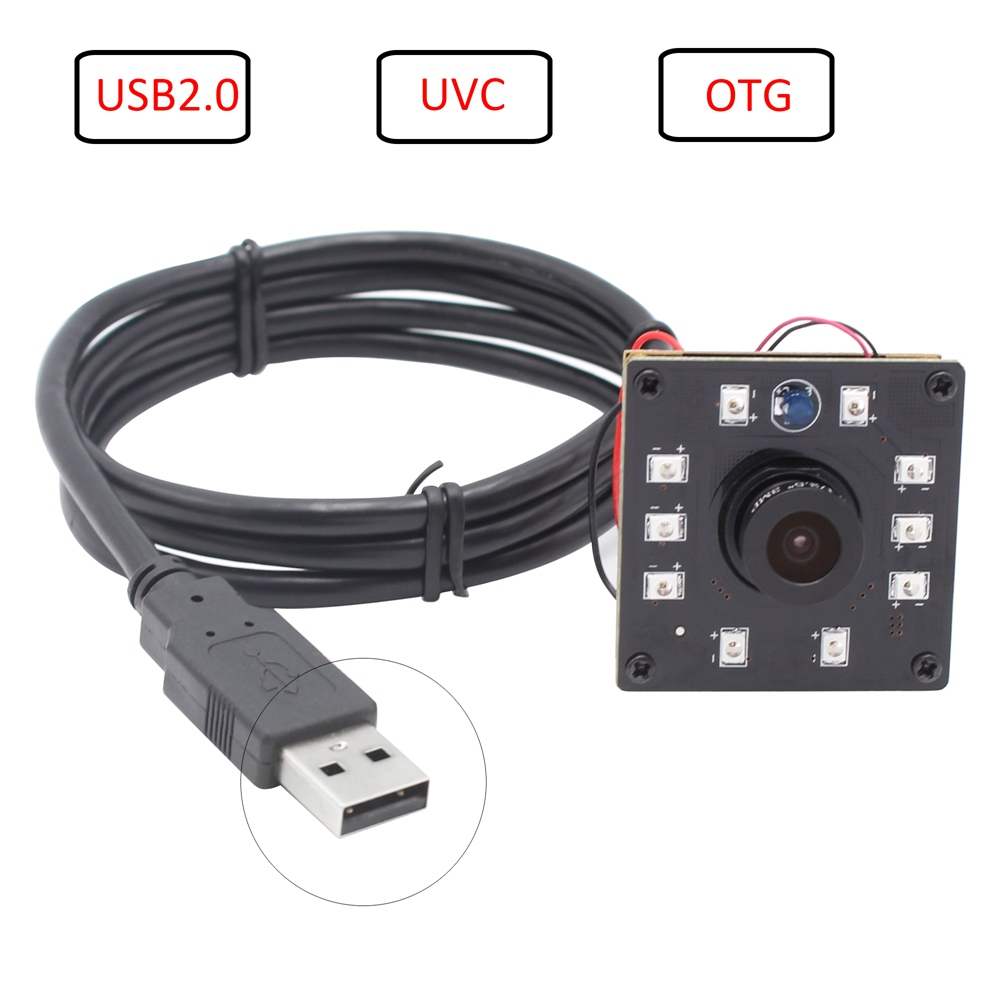 ELP USB 2.0 Web Camera 2megapixels Omnivision CMOS OV2710 1080P HD Mini Night Vision Camera