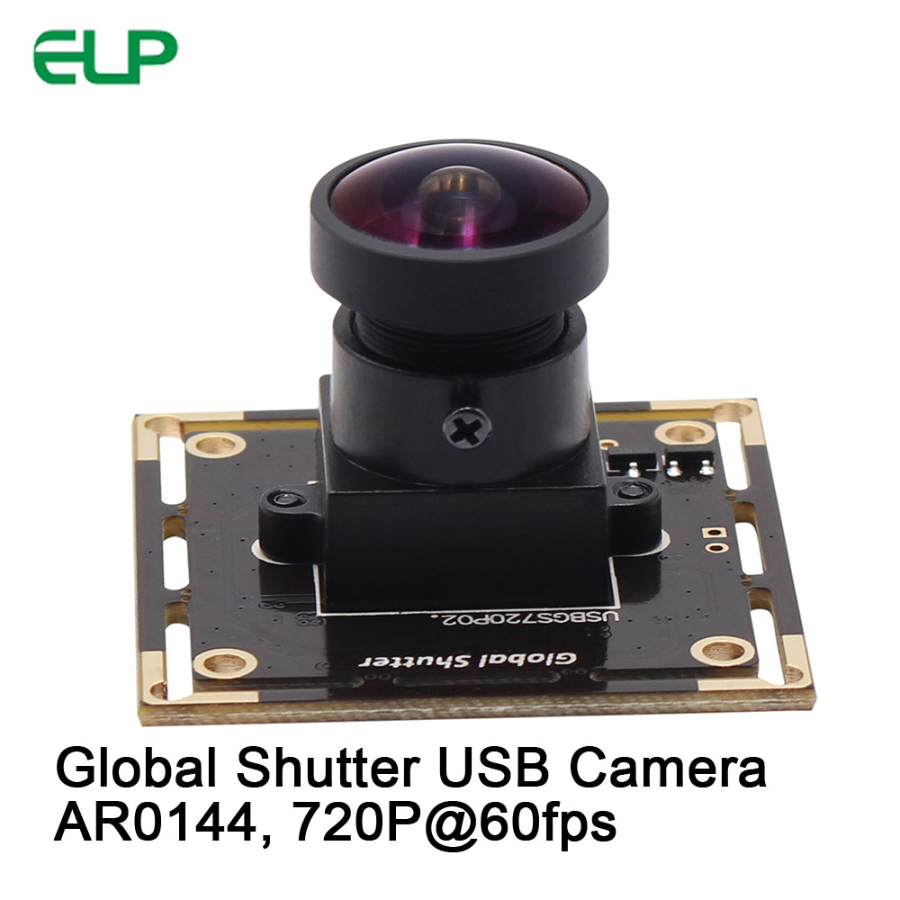 ELP Wide Angle HD Global Shutter USB Camera Module MJPEG 60fps 1280*720 Aptina AR0144 Webcam for Mac Linux Android Windows