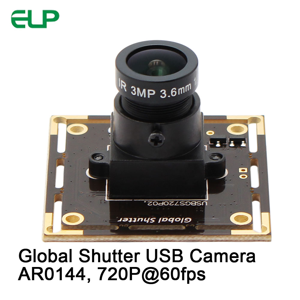 High Speed 60fps 1280*720 Camera Module Global Shutter USB Webcam Aptina AR0144 UVC Plug Play Driverless USB Camera