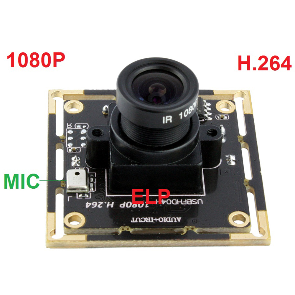 ELP-USBFHD04H-L36 2MP 1080P CMOS AR0330 H.264 MJPEG YUY2 30fps UVC USB2.0 Android Linux Windows Driverless Embedded Camera Module MIC