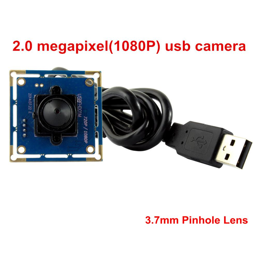 ELP Free Driver VGA 120fps USB2.0 Web Camera OV2710 HD Sensor 2MP 1080P Mini Camera With 3.7mm Pin hole Lens