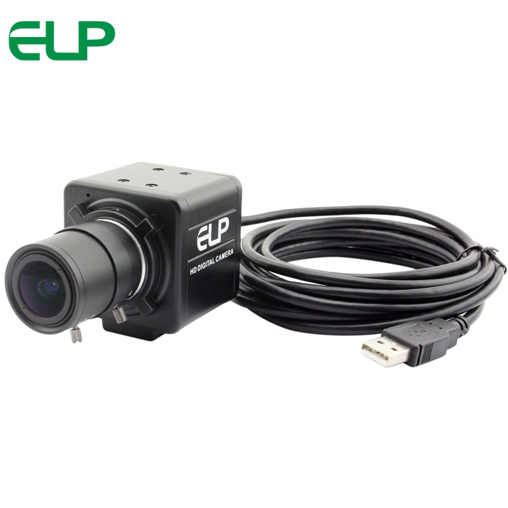 ELP 3MP WDR Dynamic Range Up to 100 dB UVC OTG USB Webcam Camera Module with 5-50mm lens for Android,Linux, Windows, MAC OS