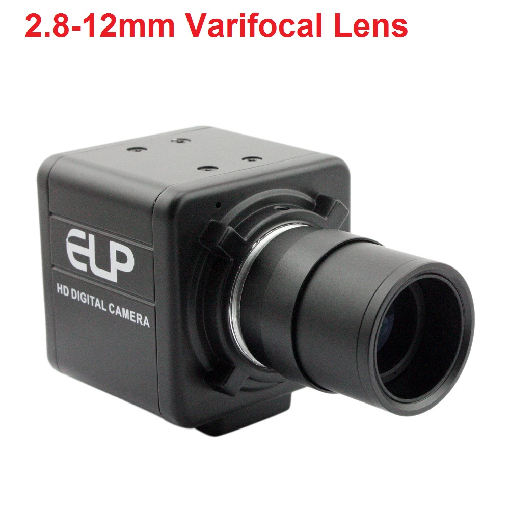 ELP 4K 3840x2160 USB Webcam Manual Varifocus Lens Mini Case Sony IMX317 Industrial Machine Vision Mini Usb Webcam Camera