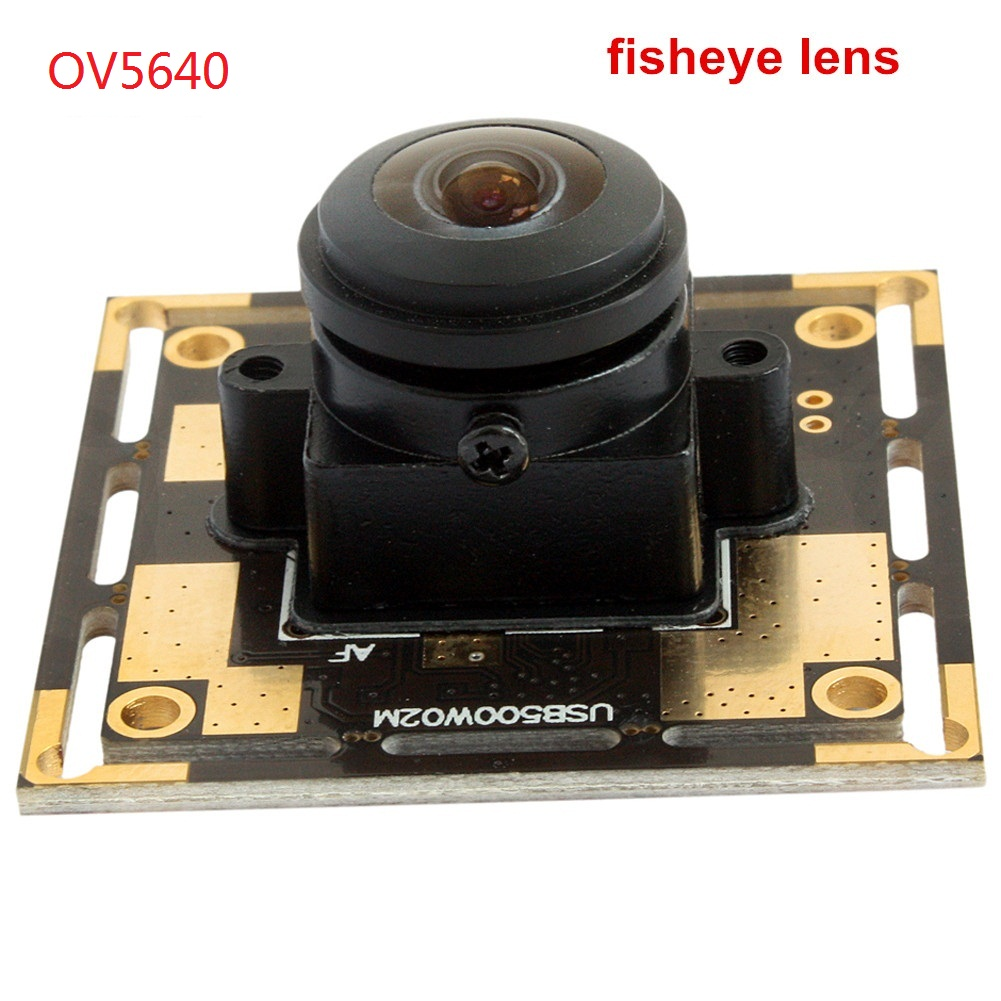 ELP 170 Degree Wide Angle USB2.0 OV5640 CMOS 5 Megapixel Webcam HD for ATM, Kiosk