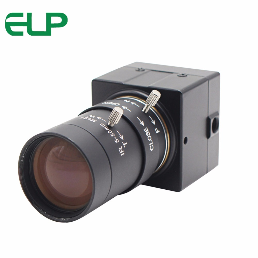 ELP Free Driver Manual Focus Webcam 5-50mm Low Illumination 0.01lux USB2.0 Video Confrence Camera With Varifocal Lens