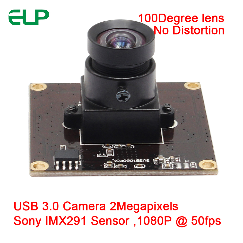 ELP 2Mpixels USB3.0 Webcam Driver Free 1080P 50fps Wide Angle Mini Security Camera Board (Lens Interchangeabl ,Support OEM )