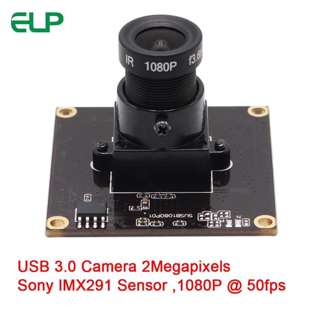 ELP Free Driver Sony IMX291 MJPEG YUYV 1080p 50fps OTG Quick USB 3.0 PCB Camera For Indrustrual Devices