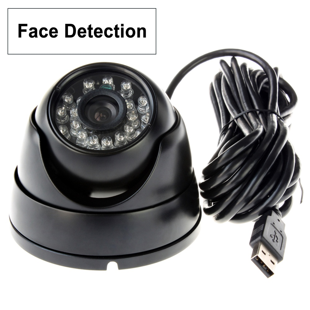 ELP Face Capture Camera USB2.0 Color Smart CCTV Security Waterproof Camera Auto Motion Dection,Face Detection support night Vision