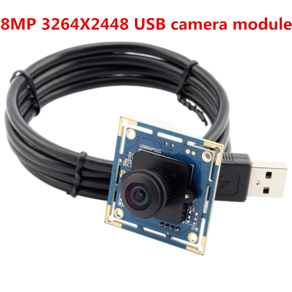 ELP ELP USB Camera 8Megapixel SONY IMX179 Sensor Mini Wide Angle USB Board Cam 180degree Fisheye lens Industrial Camera Module 8MP
