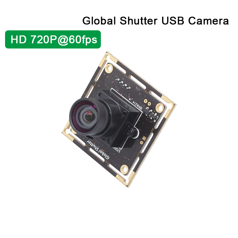 ELP Global Shutter USB Camera High Frame Rate 720P 60fps Webcam Snap