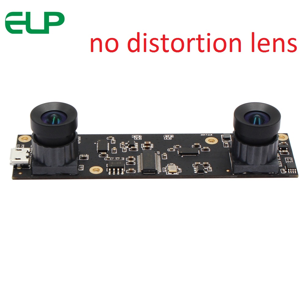 ELP No distortion Dual Lens USB Webcam 1920x1080 Aptina AR0330 Mini 86*23mm USB Camera Module for Biometric Retina Retina Analyze