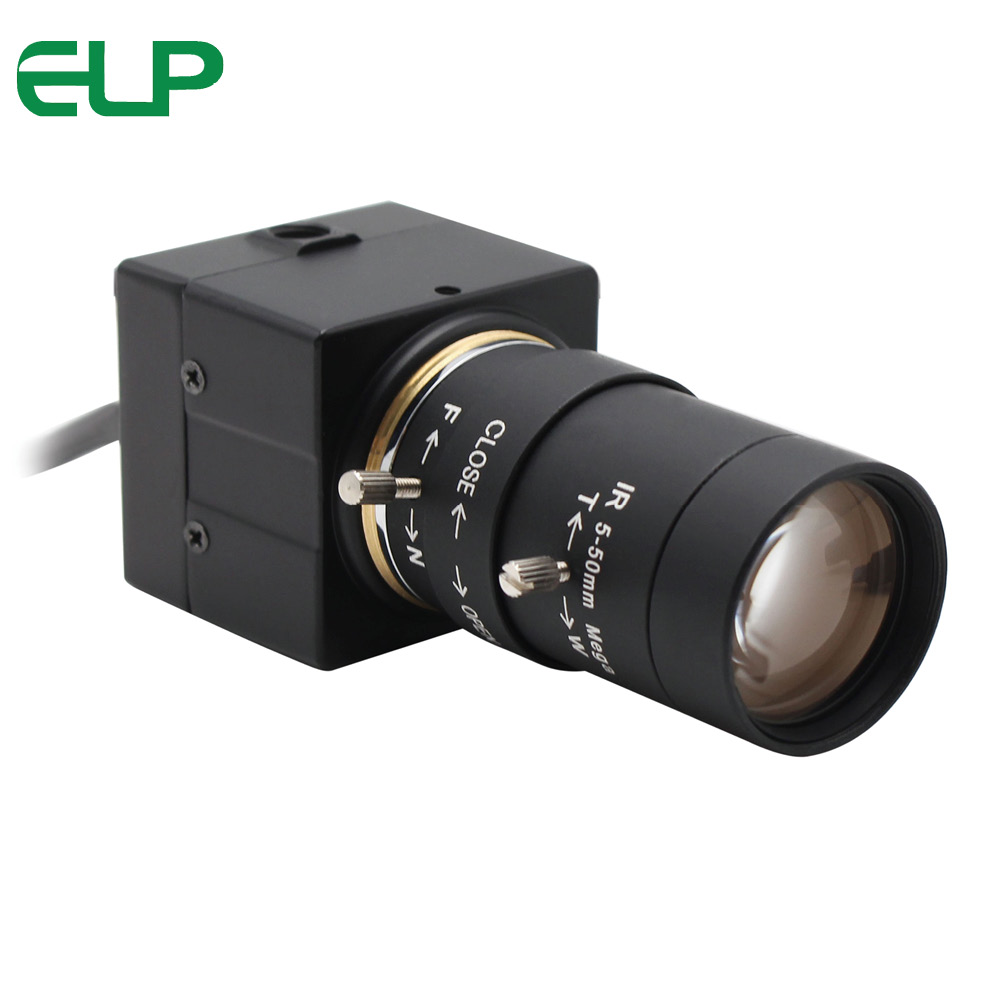 ELP 2Megapixels Sony IMX322 Low illumination H.264 USB Camera With 5-50mm Varifocal Lens,Support Audio
