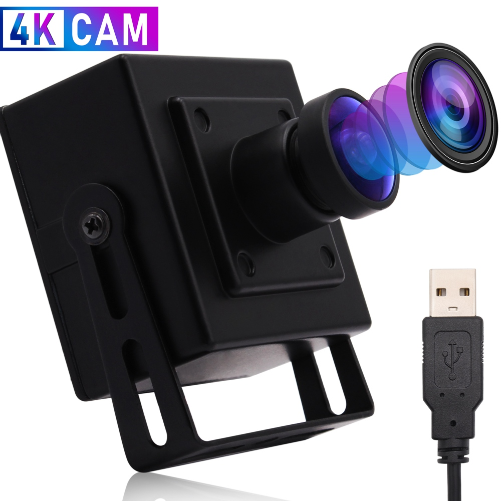 ELP 170 Degree Fisheye 4K USB Webcam MJPEG 30fps 3840x2160 Mini CMOS USB Web Camera With Microphone for Desktop/Laptop PC Computer