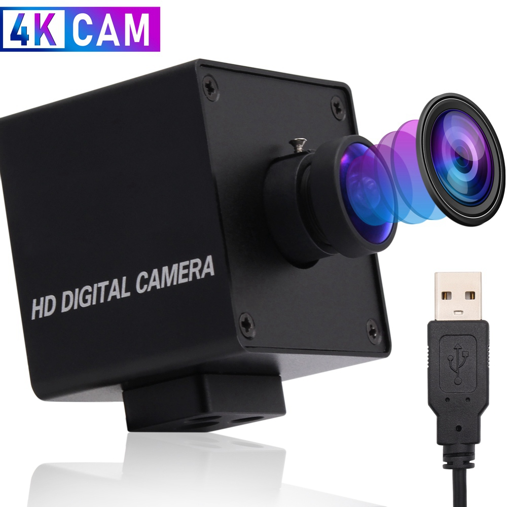 ELP 4K USB Camera OTG UVC Free Driver Plug and Play Mini USB Webcam Web Camera With Wide Angle Fisheye Lens
