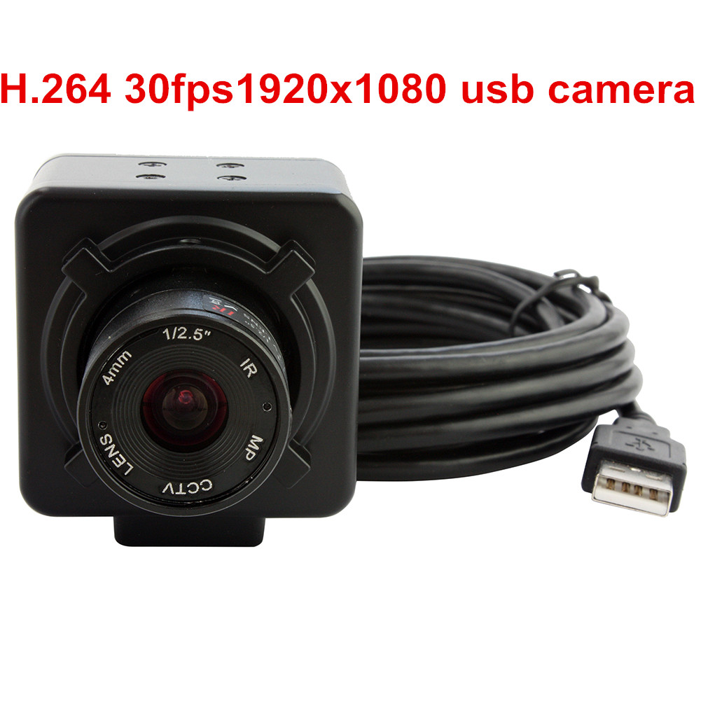 ELP H.264 1080P Low Illumination 0.01Lux Sony IMX322 OTG Inspection USB Camera Module With Manual Focus 4mm Lens