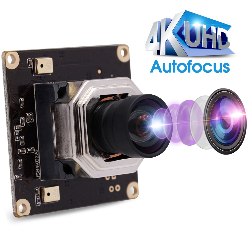 ELP Autofocus 4K USB Webcam Module HD 3840x2160 CMOS Sony IMX415 Mini 38*38mm Board USB Camera for Windows Android Linux MAC
