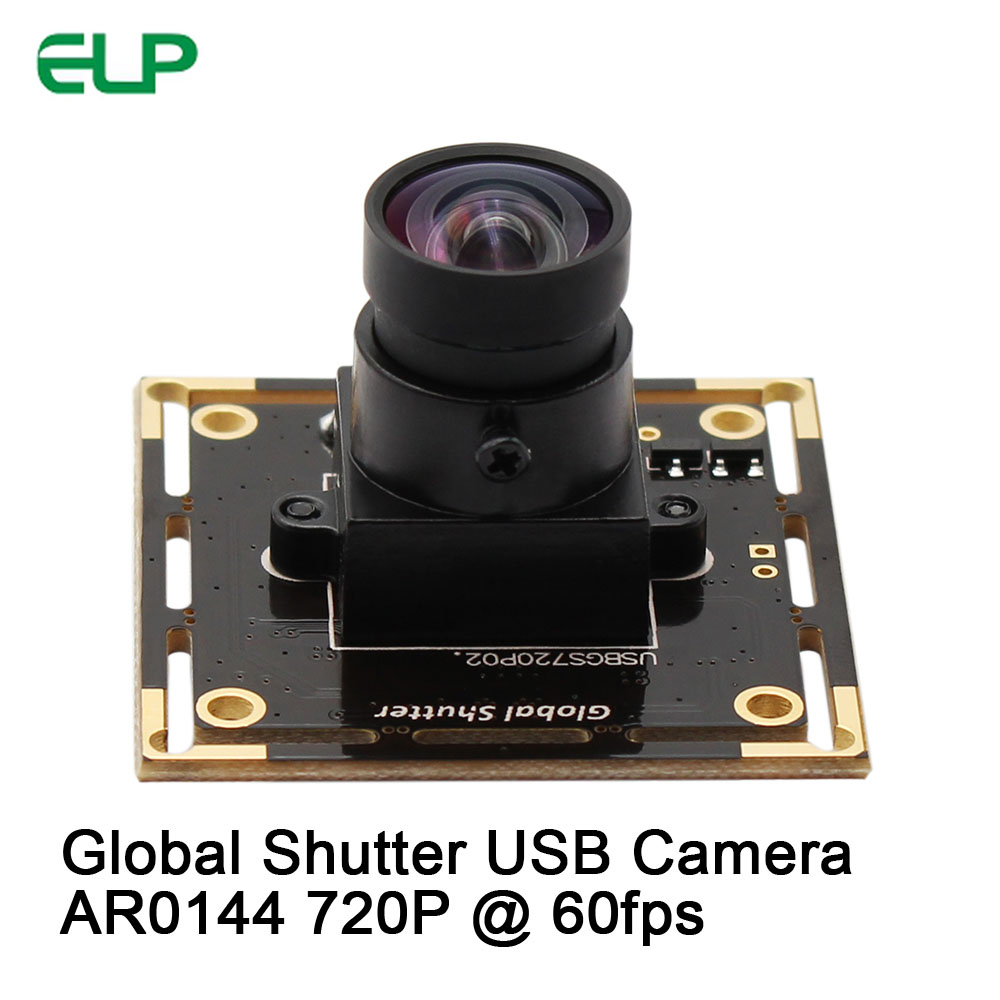 ELP Global Shutter USB Camera High Frame Rate 720P 60fps Webcam Snap without shadow Camera Module used for barcode scanner