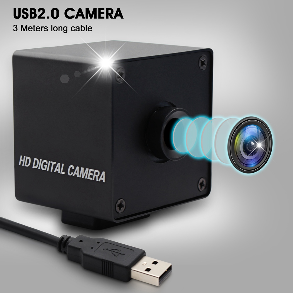 ELP No distortion lens 8MP USB Camera Sony IMX179 Sensor HD Webcam UVC Compatible with Windows ,Linux ,Android ,Mac (L75 Lens)