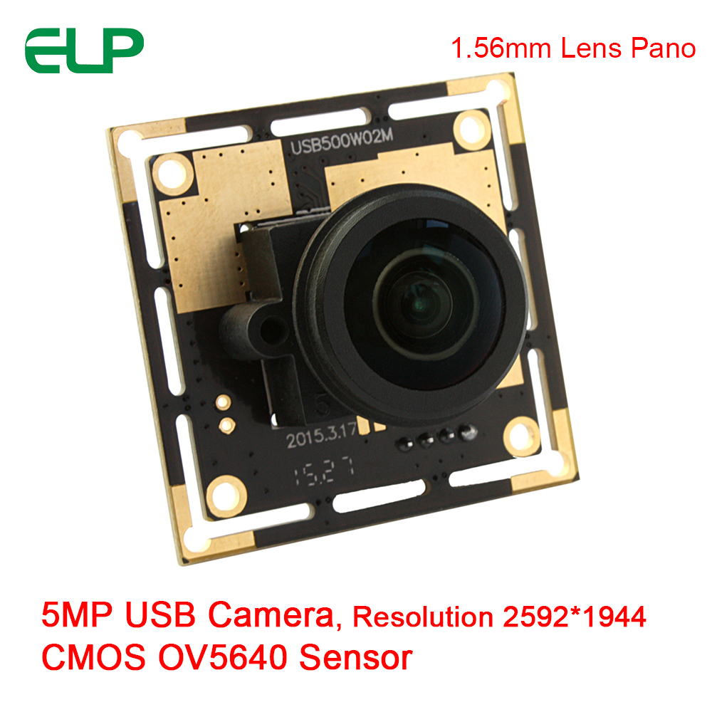 ELP Wide Angle 1.56mm Lens 5mpixels CMOS OV5640 Sensor HD Mini Endoscope Camera Module With Panoramic Lens