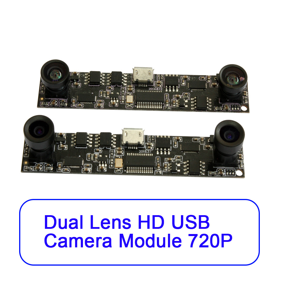 ELP HD Color UVC Webcam CMOS OV9712 Dual Lens 3D USB Stereo Vision Camera For 3D Printer, people counting